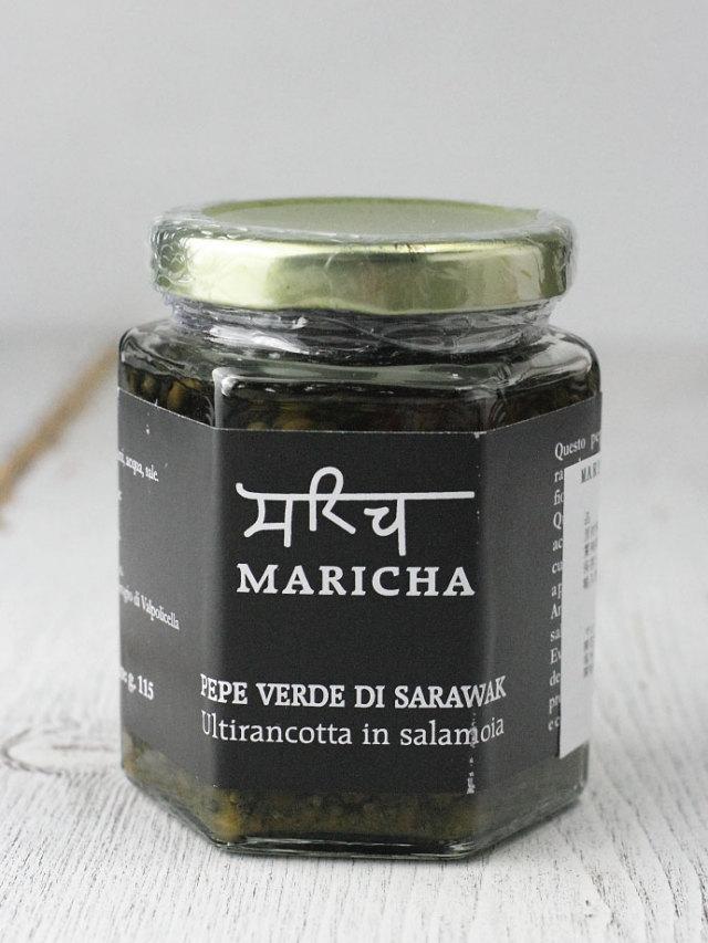 グリーンペッパーの塩水漬け マリチャ社 イタリア産 (Italian Green Pepper preserved in salt water by Maricha) 商品