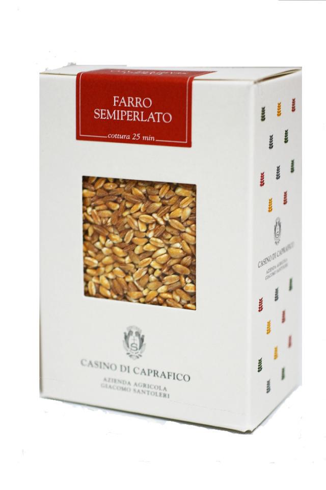 古代小麦 ファッロ・セミペラート (Farro Semiperato) 500g ジャコモ・サントレーリ社 イタリア産