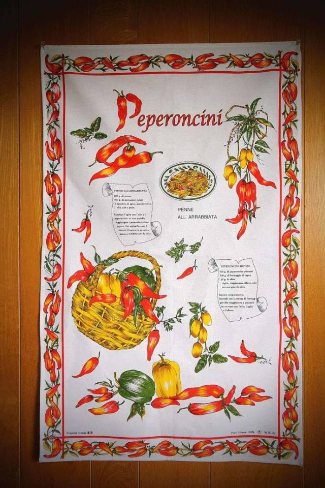 ペペロンチーニの使い方・タペストリー  コンティ社 イタリア産 (Italian Tapestry of Peperoncini by conti) 商品