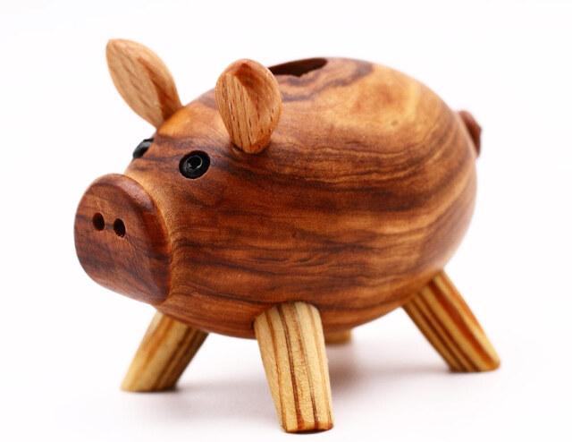 ブタのピックたて アルテレニョ社 イタリア製 (Italian Pick case of Pig made by Arte Legno Olive Wood)