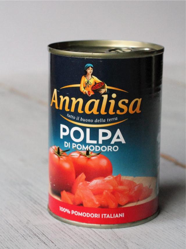 皮むきトマトのざく切り トマトソース アナリサ社 イタリア産 (Italian Chopped tomato sauce by Annalisa) 商品