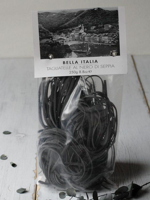 タリアテッレ・イカスミ入り Umbro社 250g (Tagliatelle al nero di seppia by Umbro Italy) イタリア産 商品