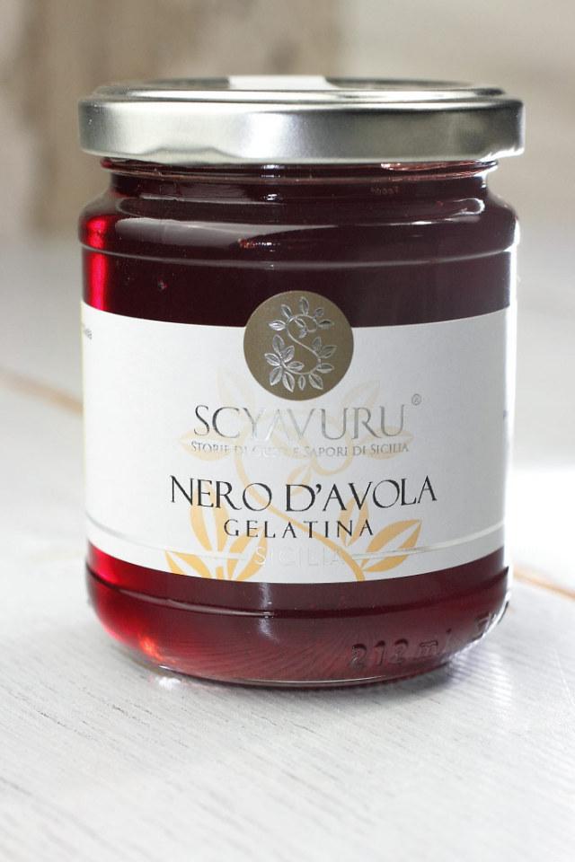 ワインゼリー (ジュレ) ネロ・ダーヴォラ シャブル社 イタリア産 (Italian Wine Jelly Nero D'avola by Scyavuru) 商品