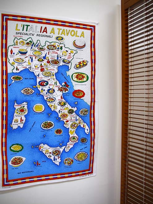 イタリア・Conti社タペストリーイタリアマップ: 郷土料理