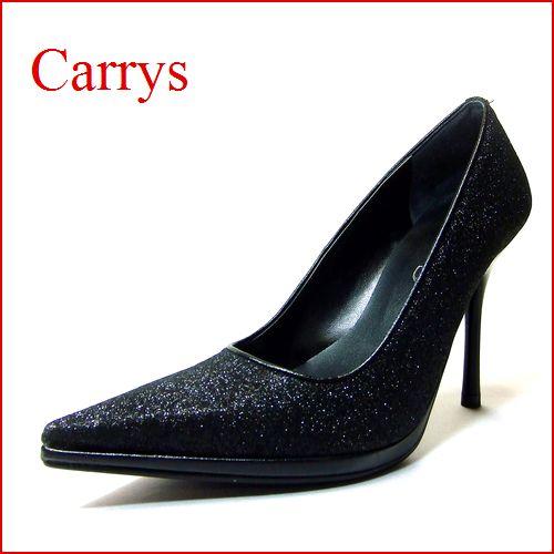 CARRYS キャリーズ プレーン パンプス  ca111bl  ブラック/ラメ  【最強のキレイさが手に入る 美ハイヒールパンプス】