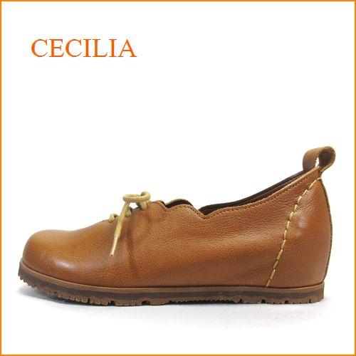 cecilia セシリア ce05ca キャメル 【可愛いフラワーカット・・・楽らくワイズ 巾広4E・・cecilia ひもひもスリッポン】
