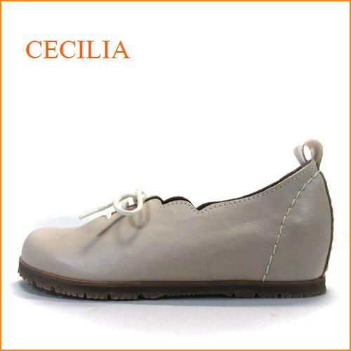 cecilia セシリア ce05va バニラ 【可愛いフラワーカット・・・楽らくワイズ 巾広4E・・cecilia ひもひもスリッポン】