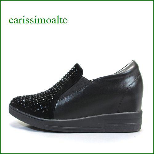 carissimoalte  カリシモアルテ cs1699151Cbl  ブラック 【可愛さ満点・・ブラックのラインストーン carissimoalte ・・インヒール・スリッポン】