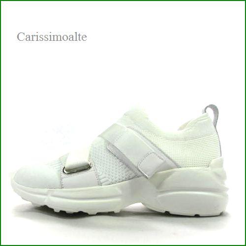 carissimo alte  カリシモアルテ cs664320wt  ホワイト 【気軽に履けてワンランク昇格・・  carissimo alte  足を締め付けない ストレッチ スニーカー】