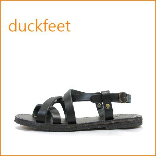 duckfeet  ダックフィート du50bl  ブラック 【3.5ミリの極厚レザー・・オール天然素材・・duckfeet 可愛いぺたんこサンダル】