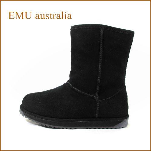 emu australia エミュー paterson Lo em10771bl ブラック 【EMU ウォータープルーフ・シープスキンブーツ・emu australia パターソン・ロー。完全防水。】