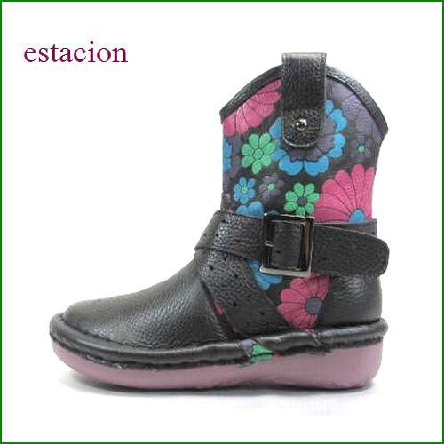 エスタシオン靴  estacion  et01bla ブラック 限定生産 【みんなに好かれる・・かわいいスタイル。エスタシオン ベルトブーツ】