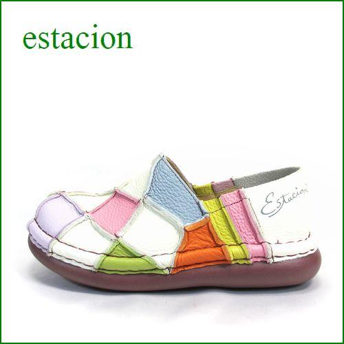 エスタシオン靴  estacion  et025iv  IVマルチ 【人気上昇ブランド↑↑↑ エスタシオン・・・ とても可愛い まん丸スリッポン】