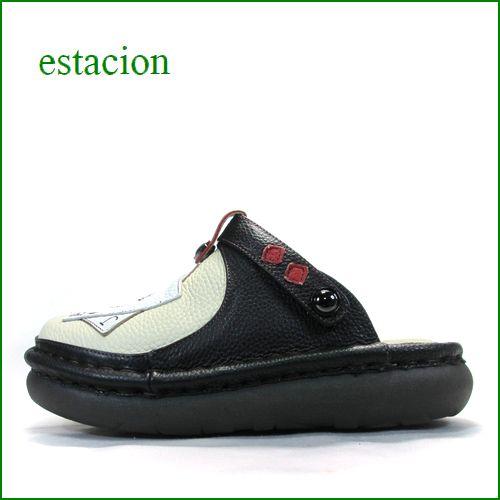 エスタシオン靴  estacion  et3371ivbl アイボリーブラック 【トランプさんと歩こう・・ ハート&スペードのエース~エスタシオン靴・ トランプのサボ】