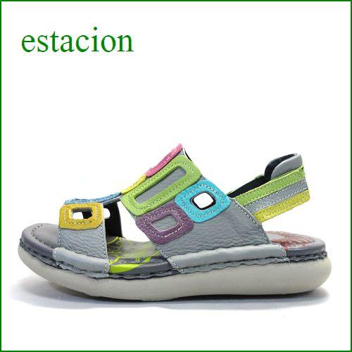 エスタシオン靴  estacion  et503gym グレイマルチ 【軽くなって登場! いい色してる。。エスタシオン ぺたんこサンダル】