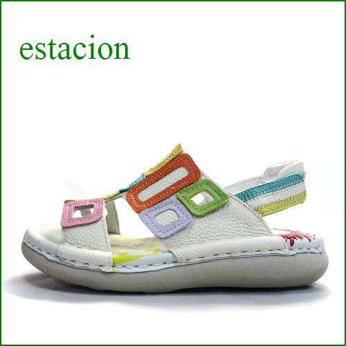エスタシオン靴  estacion  et503iv アイボリーマルチ 【軽くなって登場! いい色してる。。エスタシオン ぺたんこサンダル】
