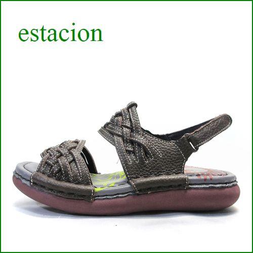 エスタシオン靴  estacion  et690br ブラウン 【可愛いメッシュしましょ。ふわふわクッションの・・ エスタシオン ぺたんこサンダル】