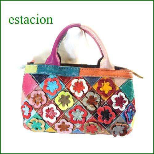 エスタシオン バッグ estacion鞄 etb0746ma マルチ 【ワクワクしちゃう! エスタシオン鞄 可愛いお花のショルダーバッグ】