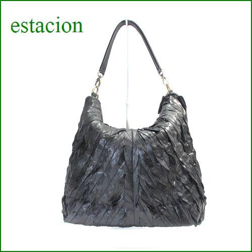 estacion バッグ エスタシオン鞄 etb858bl ブラック 【ワクワクしちゃう!可愛い。色。色。色々。。エスタシオン鞄 タップリ入る・元気なバッグ】