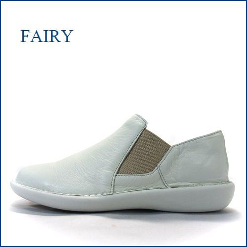 fairy  フェアリー  fa19604wt   オフホワイト 【合わせやすいシンプル・・楽楽ウィズ4Eの履き心地。。fairy サイドゴアスリッポン】