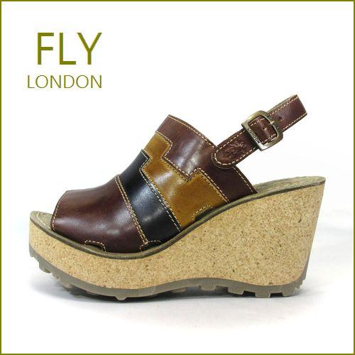 FLY LONDON フライロンドン fy642br  ブラウンマルチ 【ボリュームたっぷり・・可愛い厚底コルク・・FLY LONDON・・足を包む最高の履き心地】【レディース】
