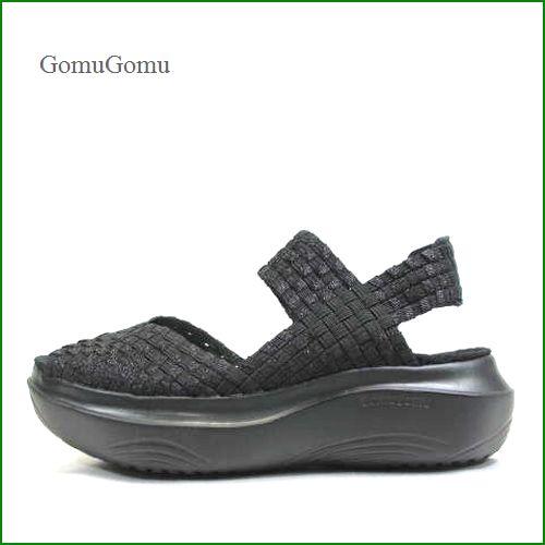 Gomu56  ゴムゴム gm5550bl  ブラック  【ルームシューズみたいにリラックス!締め付けない感じ・・ Gomu56  サンダル】