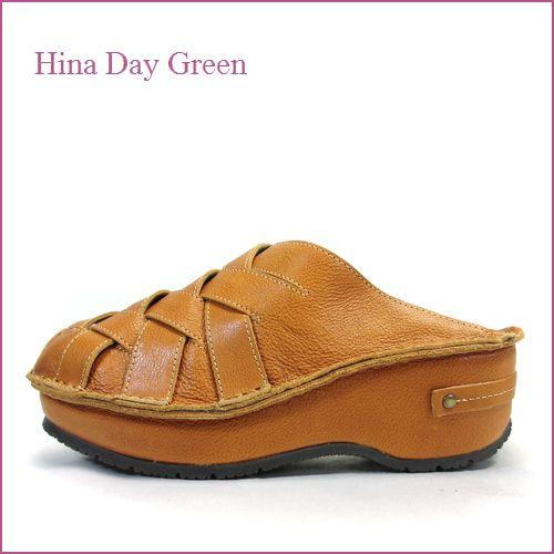 hina day green  ヒナデイグリン hi6016ca  キャメル  【可愛いボリューム・・安心のふわふわクッション・・ hina  メッシュのサボサンダル】