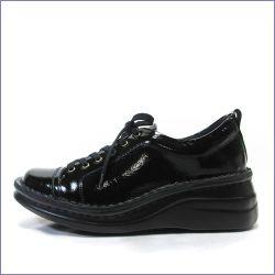 a-ok靴  エ―オーケー  ak84801bl ブラック  【おしゃれなスタイル・・足に心地いいクッション・・a-ok  エナメルスニーカー】