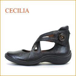 cecilia  セシリア  ce1918bl ブラック 【かわいいクロスベルト・・軽量軟質インソールでFIT・cecilia・カッタ—パンプス】