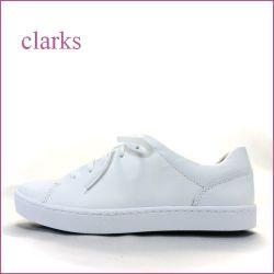 clarks  クラークス cl528wt  ホワイト 【よく馴染むソフトレザー!あわせやすいホワイト カラー。clarks シンプル・スニーカー]
