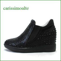 carissimo alte カリシモアルテ cs1699215bl  ブラック 【可愛さいっぱい!*ぴかぴかラメとブラックストーン* carissimo alte インヒール・スリッポン】
