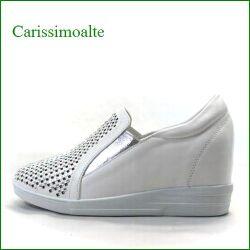 carissimoalte  カリシモアルテ cs169999Cwt  ホワイト 【気軽に履けてワンランク昇格・・四角のラインストーン  carissimoalte ・・インヒール・スリッポン】
