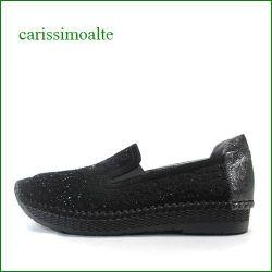 carissimoalte  カリシモアルテ cs18177bl  ブラック 【包む感じでフィットする・・可愛いパンチングカット&ストーン・・carissimoalte  柔らかいスリッポン】