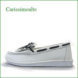 Carissimo alte   カリシモアルテ  cs2601wt  ホワイト 【包む感じでドンドン歩こう**軽い可愛い carissimo alte  キルトリボンのスリッポン】