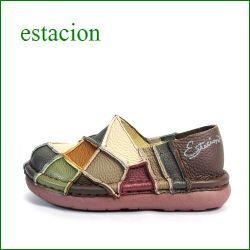 エスタシオン靴  estacion  et025br  BRマルチ 【人気上昇ブランド↑↑↑ エスタシオン・・・ とても可愛い まん丸スリッポン】