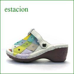 エスタシオン靴  estacion  et100iv アイボリー 【可愛さ満点。カラフル パッチワーク。。エスタシオン靴・・新型ソール・ミュール】
