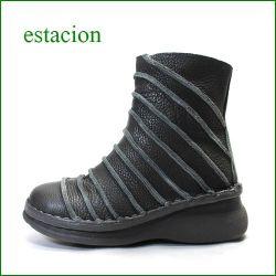 エスタシオン靴  estacion  et107dgy ダークグレイ 【新・ソールで登場!!いい色してます。。エスタシオン靴・しましまブーツ】