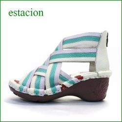 エスタシオン靴  estacion  et107iv  アイボリー 【クッションふわふわ。。可愛いフラワーソール。。。エスタシオン靴・・・わくわく元気なブーツサンダル】