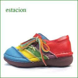 エスタシオン靴  estacion  et110mt マルチ 【フワフワで歩こう! カワイイ斜めのしましま~エスタシオン靴・ サイドレース】