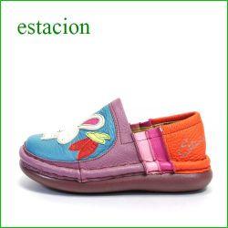 エスタシオン靴  estacion  et134bu ブルー 【 どんどん歩ける ふわふわクッション~エスタシオン靴・ うさぎのスリッポン】