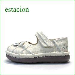 エスタシオン靴 estacion  et202ivo  アイボリー 【ワクワク元気。。エスタシオン靴・・・・カラフル・・可愛い!花花・万華鏡・ ワンベルト】