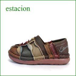 エスタシオン靴 estacion et217br BRマルチ 【ワクワク元気。。エスタシオン靴・・・・カラフル・・可愛い!花花・万華鏡・ スリッポン】