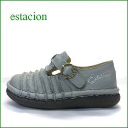 エスタシオン靴  estacion  et2441gy グレイ 【かわいい限定カラー!フワッと感じるお座布なクッション。。エスタシオン靴・・しましまマニッシュ】