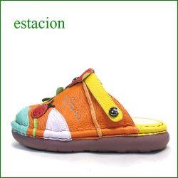 エスタシオン靴 estacion et321or オレンジマルチ 【てんとう虫とクローバー・・ちょっとだけオープントゥ。。◇・◇ エスタシオン靴・サボ サンダル】