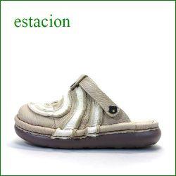 エスタシオン靴  estacion  et34okiv OKアイボリー 【色の宝石箱・・・エスタシオン靴 すごく可愛い ぐるぐるサボ】