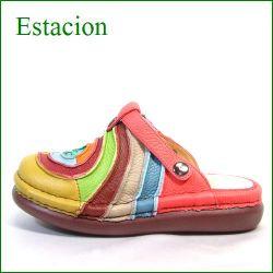 エスタシオン靴  estacion  et34or ORマルチ 【色の宝石箱・・・エスタシオン すごく可愛い ぐるぐるサボ】