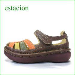 エスタシオン靴 estacion  et45br  ブラウン 【可愛さ満点!増量ふわふわクッション◇・◇・◇エスタシオン 足首ベルト 】