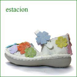 エスタシオン靴 estacion  et78ivmt アイボリーマルチ 【増量ふわふわクッション。。可愛い!お花てんこ盛り ◇・◇・◇ エスタシオン靴・足首ベルトのセパレート】