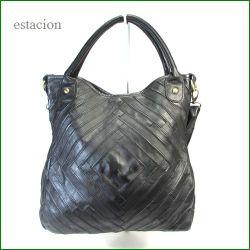 estacion バッグ エスタシオン鞄 etb591Bbl ブラック 【ワクワクしちゃう!可愛い。。。エスタシオン鞄 タップリ入る・元気なバッグ】