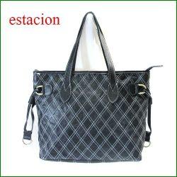 estacion バッグ エスタシオン鞄 etb860bla ブラック 【ワクワクしちゃう!可愛い。色。色。色々。。エスタシオン鞄 タップリ入る・元気なバッグ】